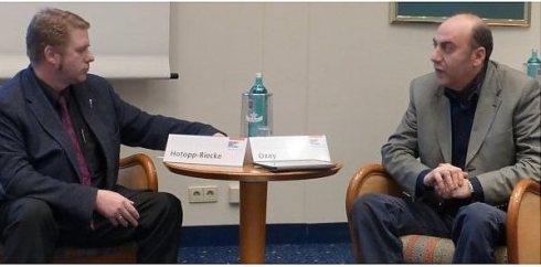 Mieste Hotopp-Riecke und Ahmet Özay als Gäste der Friedrich-Ebert-Stiftung