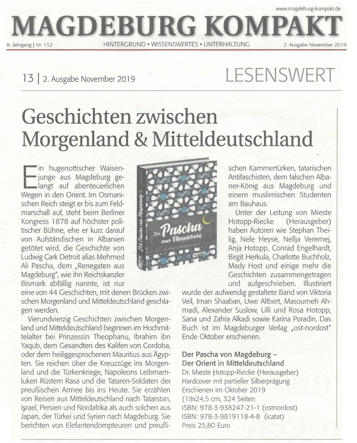 Pascha Magdeburg kompakt Nov. 2 2019; S. 13